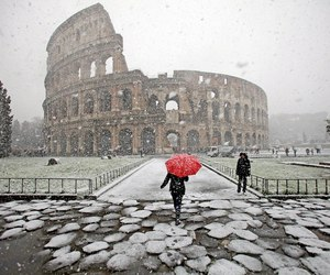 rome, snow, and winter image