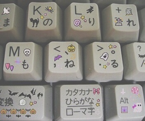 grunge, keyboard, and kawaii image