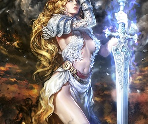 fantasy, girl, and sword image