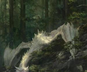 dragon, white, and fantasy image