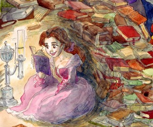 beauty, beauty and the beast, and books image