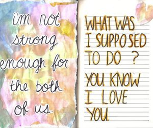 love, strong, and diary image