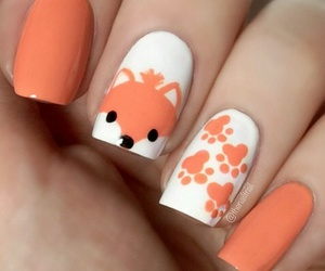 nails, cute, and fox image