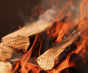 wood, fire, and warm and cozy image