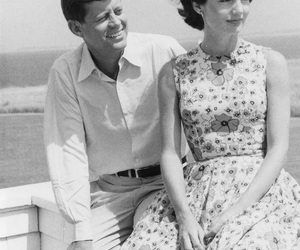 Jackie Kennedy, JFK, and vintage image