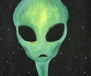 alien, green, and space image