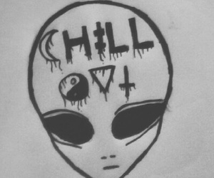 alien, chill out, and grunge image