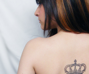 crown, girl, and tattoo image