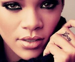 rihanna, tattoo, and eyes image