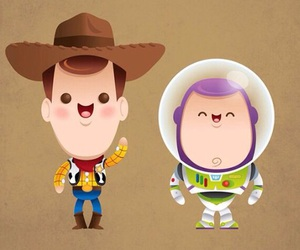 toy story, woody, and buzz image