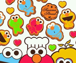 cookie monster, elmo, and sesame street image