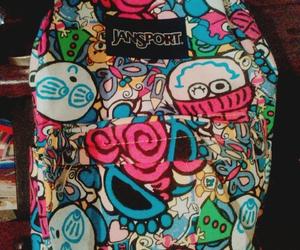 colores, grafiti, and jansport image