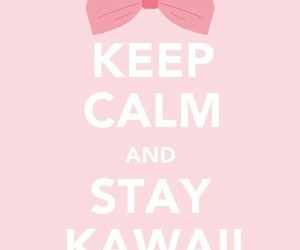 kawaii, keep calm, and pink image