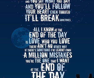 one direction, end of the day, and Lyrics image