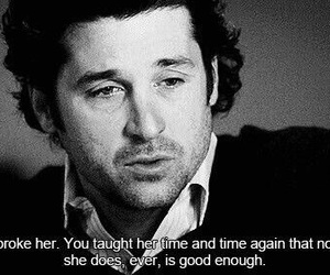 quote, grey's anatomy, and sad image
