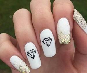 nails, diamond, and white image