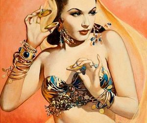 bangles, gypsy, and belly dancer image