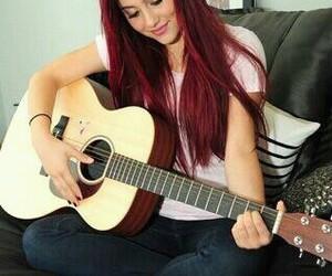 ariana grande, guitar, and ariana image