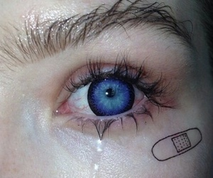 eyes, blue, and grunge image