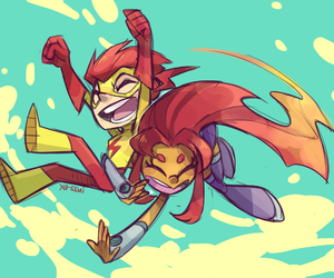 comic, wally west, and starfire image