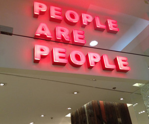 people, quotes, and neon image