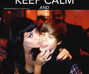 katy perry, keep calm, and justin bieber image