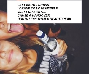 drink, quote, and broken heart image