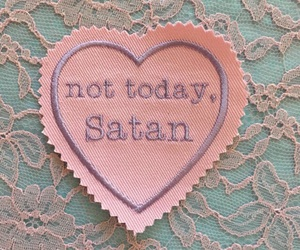satan, pink, and heart image