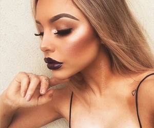 eyebrows, lips, and makeup image