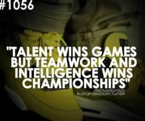 Basketball, quote, and teamwork image