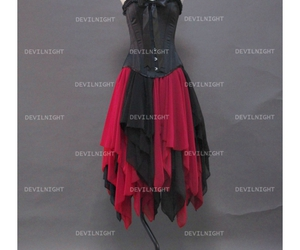 gothic corset dress, gothic party dress, and gothic prom dress image