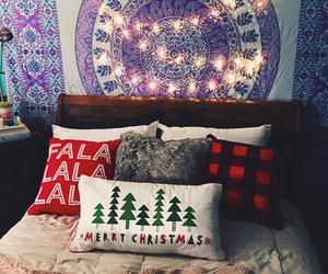 christmas, trees, and pillows image