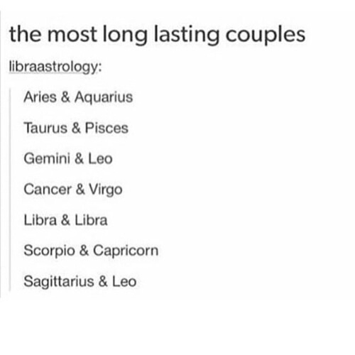 Zodiac signs couples