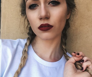 braids, hair, and lips image