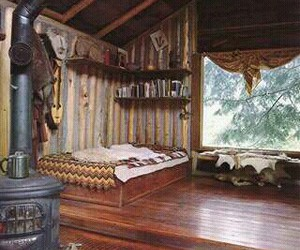 home, wood, and interior image