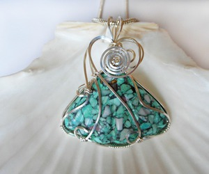 blue, handmade, and pendant image