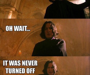 harry potter, snape, and funny image
