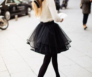 fashion, skirt, and black image
