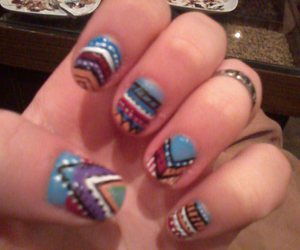 beautiful, colorful, and nail art image