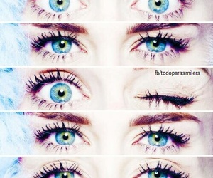 eyes, miley cyrus, and blue image