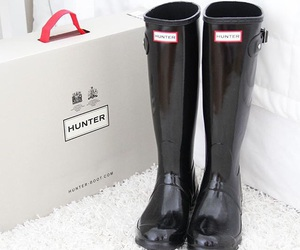 hunter, black, and boots image