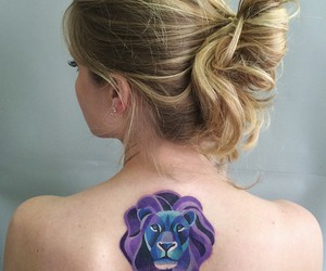 lion, tattoo, and color tattoo image