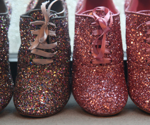 shoes, glitter, and pink image