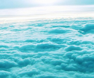 blue, wallpaper, and clouds image
