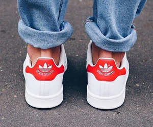 adidas, red, and stan smith image