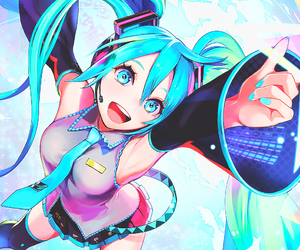anime and hatsune miku image