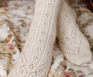 socks, white, and pretty image