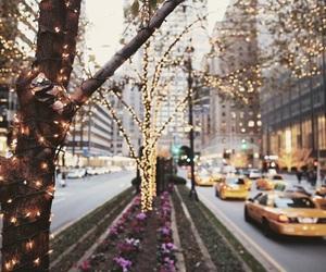 light, christmas, and city image