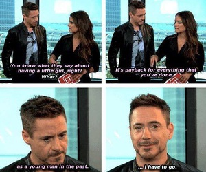 robert downey jr, daughter, and funny image