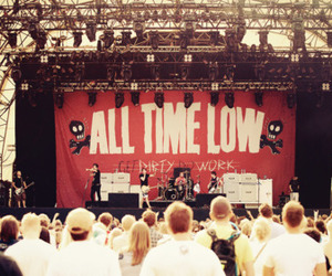 all time low, concert, and dirty work image